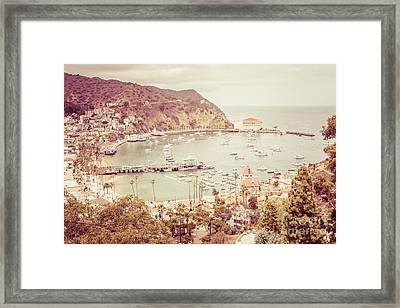 Avalon California Catalina Island Retro Photo Framed Print by Paul Velgos