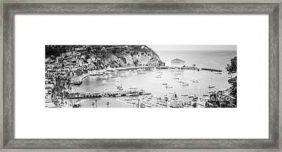 Avalon California Panoramic Picture Of Catalina Island Framed Print by Paul Velgos
