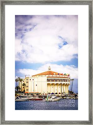 Avalon Casino Catalina Island Vertical Picture Framed Print