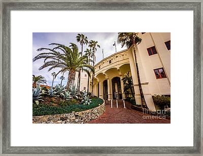 Avalon Casino Entrance On Catalina Island Framed Print by Paul Velgos