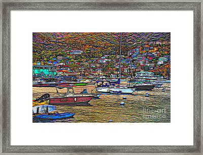 Avalon Harbor Sunset Framed Print by Norma Warden
