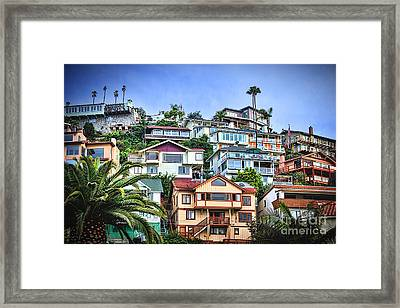 Avalon Hillside With Harbor View Framed Print
