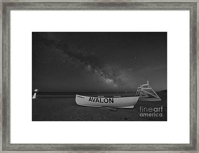 Avalon Milky Way Bw Framed Print