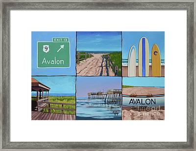 Avalon Montage  Framed Print by Elisabeth Olver
