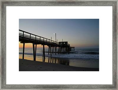 Avalon - Morning At The 32nd Street Pier Framed Print by Bill Cannon