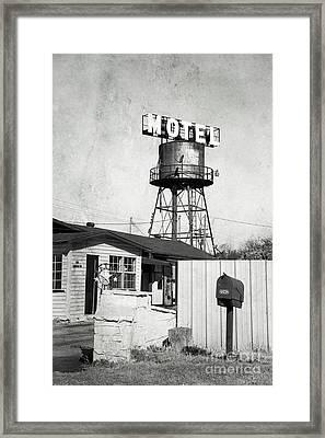Framed Print featuring the photograph Avalon Motel by Elena Nosyreva