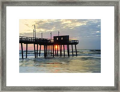Avalon New Jersey - 32nd Street Pier Framed Print by Bill Cannon