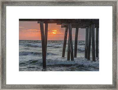 Avalon - Sunrise At The 32nd Street Pier Framed Print by Bill Cannon