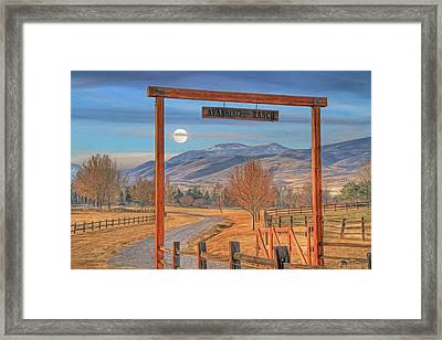 Avansino Ranch Framed Print by Donna Kennedy