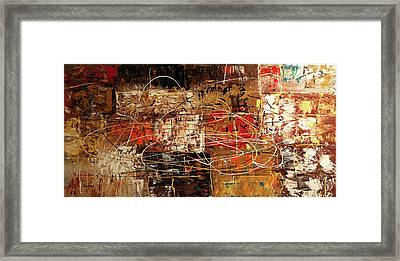 Framed Print featuring the painting Avant Garde by Carmen Guedez