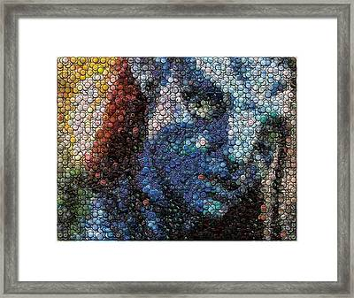 Avatar Neytiri Bottle Cap Mosaic Framed Print by Paul Van Scott