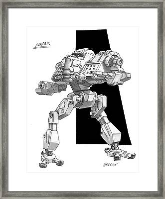 Avatar Framed Print by Richard Hescox