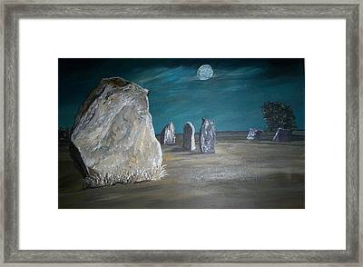 Avebury Stone Circle Framed Print by Tracey Mitchell