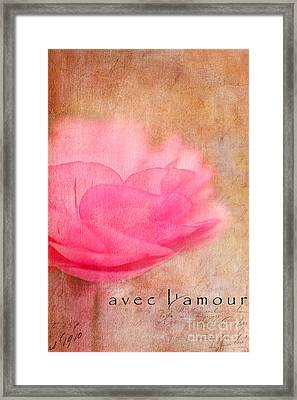 Avec L'amour Framed Print by Beve Brown-Clark Photography
