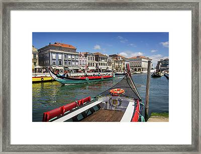 Aveiro Moliceiro Boat Framed Print by Carlos Caetano