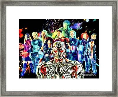 Avengers Age Of Ultron In Color Framed Print