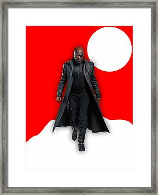 Avengers Nick Fury Collection Framed Print