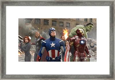 Avengers Framed Print by Paul Tagliamonte