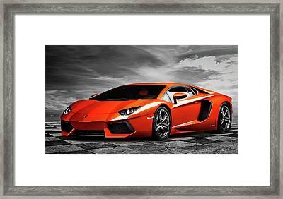 Aventador Framed Print