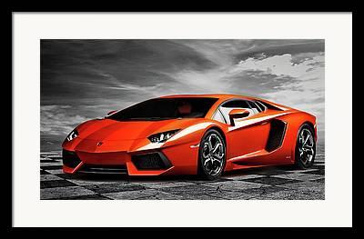 Automotive Art Framed Prints