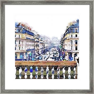 Avenue De L'opera Moderne  Framed Print by D Renee Wilson