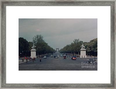 Avenue Des Champs Elysees Framed Print by Oleg Konin