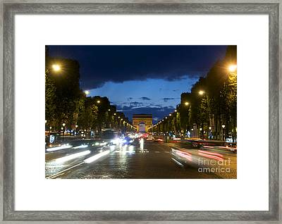 Avenue Des Champs Elysees. Paris Framed Print