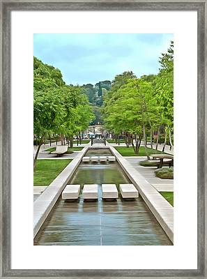Avenue Jean Jaures Nimes 1 Framed Print