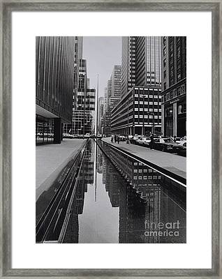 Avenue Of The Americas , Midtown Framed Print