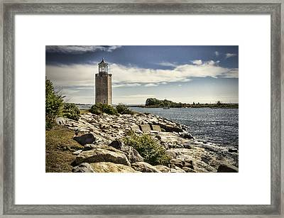 Avery Point Lighthouse Framed Print by Phyllis Taylor