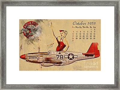 Aviation 1953 Framed Print