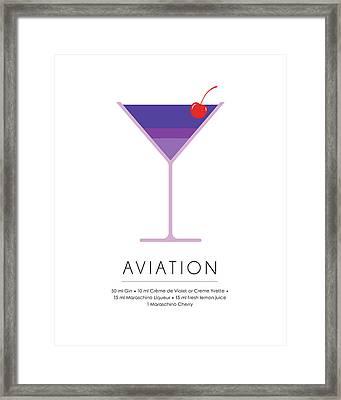 Aviation Classic Cocktail Minimalist Print Framed Print