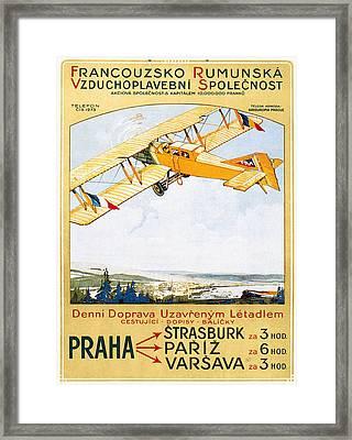 Aviation Poster, 1922 Framed Print