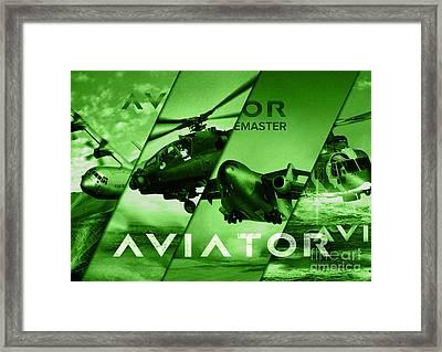 Aviator Aircraft Framed Print by Fernando Miranda