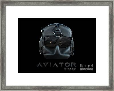 Aviator Gunner Helmet Framed Print by Fernando Miranda