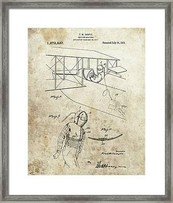 Aviator Suit Patent Framed Print
