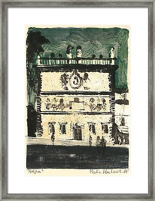 Avignon Historic Building Framed Print