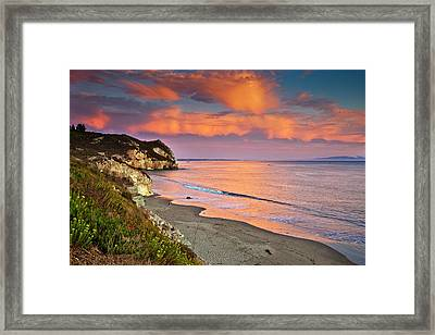 Avila Beach At Sunset Framed Print by Mimi Ditchie Photography