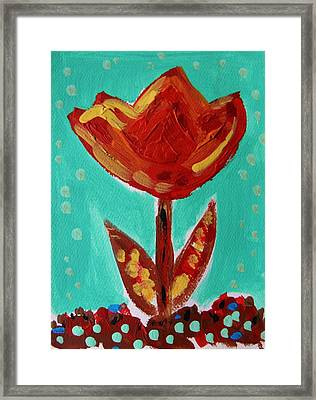 Avis-flowers From The Flower Patch Framed Print by Mary Carol Williams