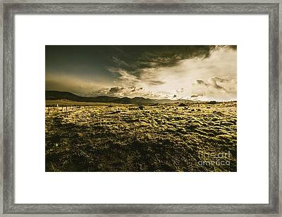 Avoca Fields And Mountains Framed Print by Jorgo Photography - Wall Art Gallery