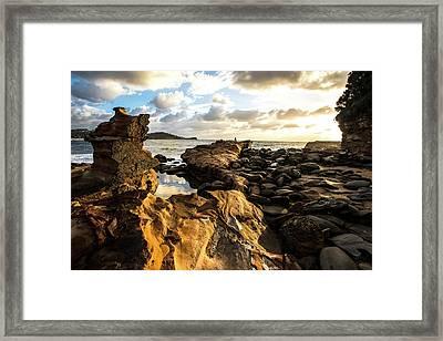 Avoca Rocks Mk1 Framed Print by David Benson
