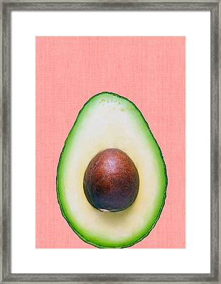 Avocado And Pink Framed Print by Vitor Costa