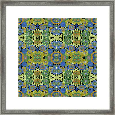 Avocado Blue Pattern Framed Print