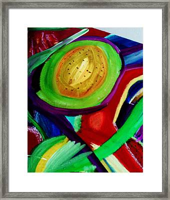 Avocado  Framed Print by HollyWood Creation By linda zanini