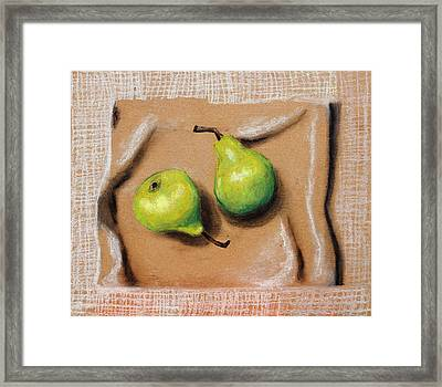 Avocado Kitchen Wallpaper Framed Print by Nirdesha Munasinghe