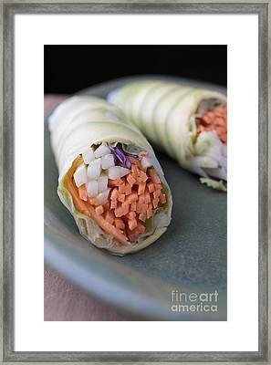 Avocado Roll Sushi Framed Print