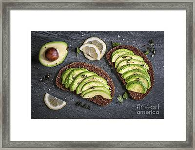 Avocado Sandwich Framed Print by Elena Elisseeva