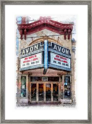 Framed Print featuring the painting Avon Cinema Theater East Providence Rhode Island by Edward Fielding
