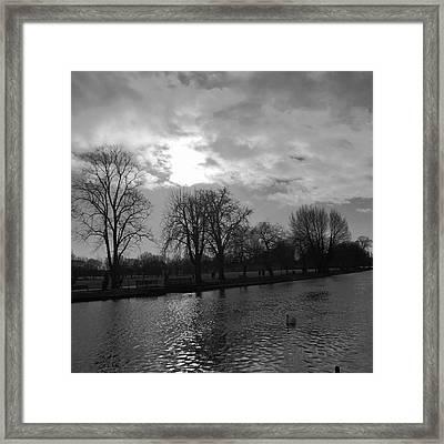 River Avon At Stratford. Framed Print