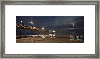 Avon Pier At Night Framed Print